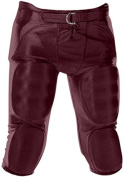 Alleson Youth Dazzle Integrated Football Pants MA - MAROON YXS