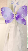 The Butterfly Grove Isabella Butterfly Curtain Tieback, Purple Wisteria, Small, 13cm x 10cm