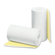 PM Company Perfection 2 Ply POS/Cash Register Rolls, 11cm x 27m, White/Canary, 24 per Carton