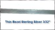 Bezel Wire .999 Fine Silver Flat 0.2cm Width x 30cm Length