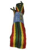 Big Laces Flat Laces - Rasta Red Yellow Green Shoelaces - 10mm wide - 90cm to 180cm long