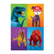 Veka Baby Products-Dinosaur Holographic Cover A5 Notebook