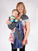 Baby Ring Sling Carrier - Blue and White Polka Dot