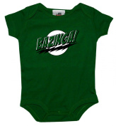 The Big Bang Theory Bazinga Green Baby Creeper Romper Snapsuit
