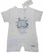 Baby Girl and Boy Romper Lovely Summer Elephant Design 100% Cotton 1M 3M 6M