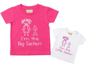 I'm The Little Sister I'm The Big Sister Tshirt Set Baby Toddler Kids Available in Sizes 0-6 Months to 14-15 Years New Baby Sister Gift