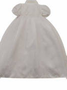 BNWT BY KINDER Beautiful white christening gown with bonnet sequins & lace 0-6 months