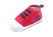 JTC Baby Toddler Girl Boy Crown Print Canvas Crib Shoes Infant Sneakers