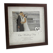 Wedding Day Photo Frame Gift With Mount and Insets 13cm x 18cm