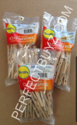 4 Seasons 3 Sets Of - 30-Piece Large Clothespin Pegs 8.9cm Natural Colour