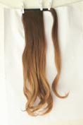 50cm Clip in hair extensions Wrap Around Ponytail Long Wavy Ombre Dip dye