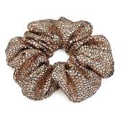 Gold Metallic Oversized Hair Scrunchie