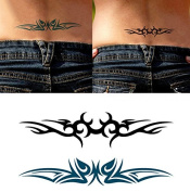 Body Art Temporary Removable Tattoo Stickers Brambles HC1094 Sticker Tattoo - FashionLife
