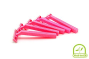 Wundmed Disposable Razors 5 Pack Pink Double Blade Women