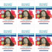 Dermaglin Green Cambrian Clay Face Mask / Nutritional and Purifying / Non-Perfumed / 100% Natural / Pack of 6