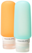 Travelon Set Of 2 Smart Tubes, 90ml, Orange/Blue, One Size