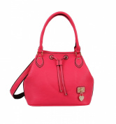 Mellow World Fashion Handbag Darcey, Fuchsia, One Size