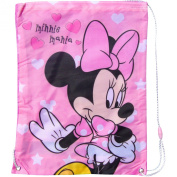 Girl's Pink Disney Minnie Mouse Mania Shoe, Swim & Gym Drawstring Bag