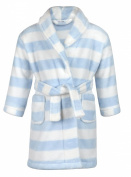 BABYTOWN Baby Boys Fleece Dressing Gown Robe Stripes Blue Soft Touch