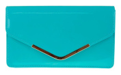 Girly HandBags Beautiful Patent Faux Leather Metallic Frame Envelope Clutch Bag Shoulder Bag Party