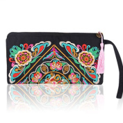 Women's Fashion Ethnic Embroider Purse Wallet Clutch Bag Phone Bag Card Coin Holder