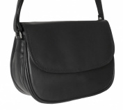 Women's Black Leather Shoulder Bag