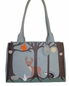 Ciccia Duck Egg Blue Leather Shoulder Bag, Large