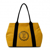 YAAGLE Womens Elegant Lady Light Weight Multi-functional Casual Canvas Shoulder Top-handle Handbag Work Shopper Party Bag Satchel Tote Tobe White Khaki Yellow