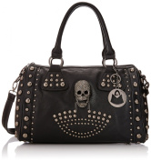 MG Collection Howea Trendy 3D Devil Gothic Studded Doctor Style Shoulder Bag, Black, One Size