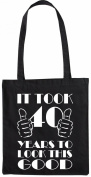 Mister Merchandise Tote Bag It took 40 Years to look this Good Shopper Shopping , Colour