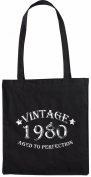 Mister Merchandise Tote Bag Vintage 1980 - Aged to Perfection 35 36 Shopper Shopping , Colour