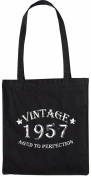 Mister Merchandise Tote Bag Vintage 1957 - Aged to Perfection 58 59 Shopper Shopping , Colour