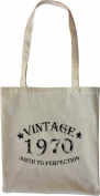 Mister Merchandise Tote Bag Vintage 1970 - Aged to Perfection 45 46 Shopper Shopping , Colour