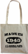 Mister Merchandise Tote Bag Made in 1945 All Original Parts 70 71 Shopper Shopping , Colour