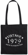 Mister Merchandise Tote Bag Vintage 1979 - Aged to Perfection 36 37 Shopper Shopping , Colour