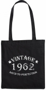 Mister Merchandise Tote Bag Vintage 1962 - Aged to Perfection 53 54 Shopper Shopping , Colour