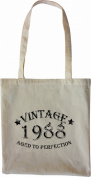 Mister Merchandise Tote Bag Vintage 1988 - Aged to Perfection 27 28 Shopper Shopping , Colour