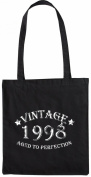 Mister Merchandise Tote Bag Vintage 1998 - Aged to Perfection 17 18 Shopper Shopping , Colour