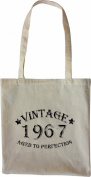 Mister Merchandise Tote Bag Vintage 1967 - Aged to Perfection 48 49 Shopper Shopping , Colour