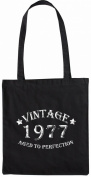 Mister Merchandise Tote Bag Vintage 1977 - Aged to Perfection 38 39 Shopper Shopping , Colour