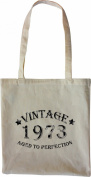Mister Merchandise Tote Bag Vintage 1973 - Aged to Perfection 42 43 Shopper Shopping , Colour