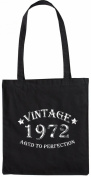 Mister Merchandise Tote Bag Vintage 1972 - Aged to Perfection 43 44 Shopper Shopping , Colour