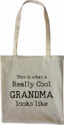 Mister Merchandise Tote Bag This is what a really Cool Grandma looks like Oma Großmutter Shopper Shopping , Colour