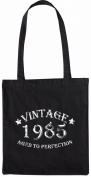Mister Merchandise Tote Bag Vintage 1985 - Aged to Perfection 30 31 Shopper Shopping , Colour