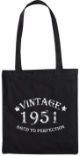 Mister Merchandise Tote Bag Vintage 1951 - Aged to Perfection 64 65 Shopper Shopping , Colour