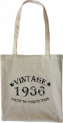 Mister Merchandise Tote Bag Vintage 1936 - Aged to Perfection 79 80 Shopper Shopping , Colour