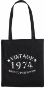 Mister Merchandise Tote Bag Vintage 1974 - Aged to Perfection 41 42 Shopper Shopping , Colour