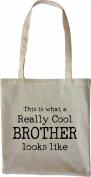 Mister Merchandise Tote Bag This is what a really Cool Brother looks like Bruder Shopper Shopping , Colour
