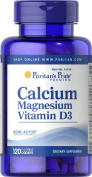 Puritan's Pride Calcium Magnesium with Vitamin D 120 Caplets 16154