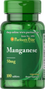 Puritan's Pride Manganese 50 mg 100 Tablets 1090